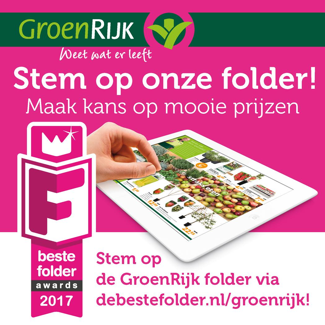 Stem op de GroenRijk folder