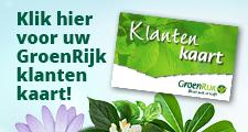 GroenRijk klantenkaart tuincentrum